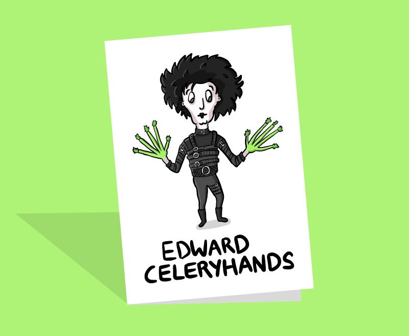 funny edward scissorhands card
