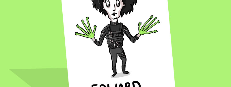 Edward Scissorhands Card