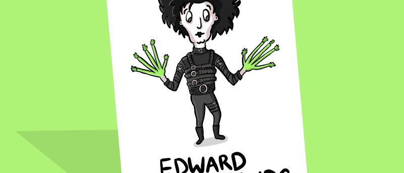 Edward Scissorhands Card