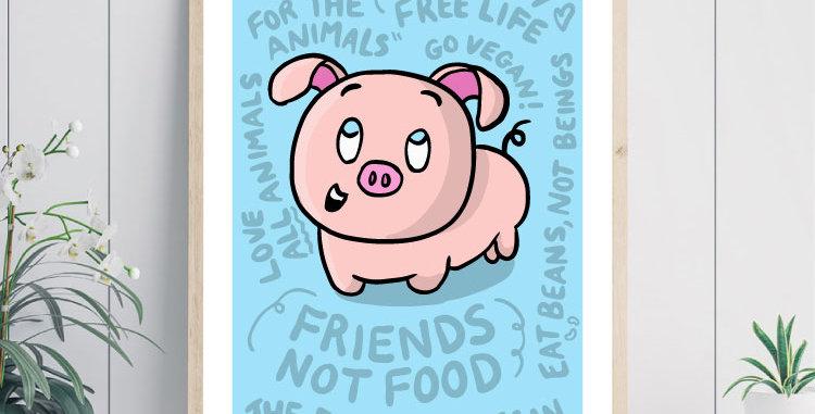 friends not food art