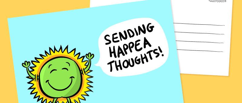 Cute Happy postcard