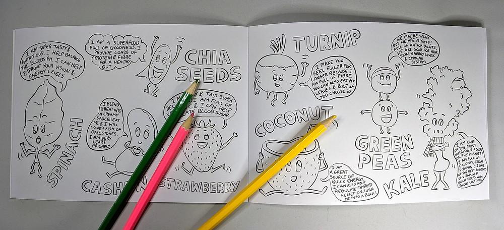 vegan food coloring book