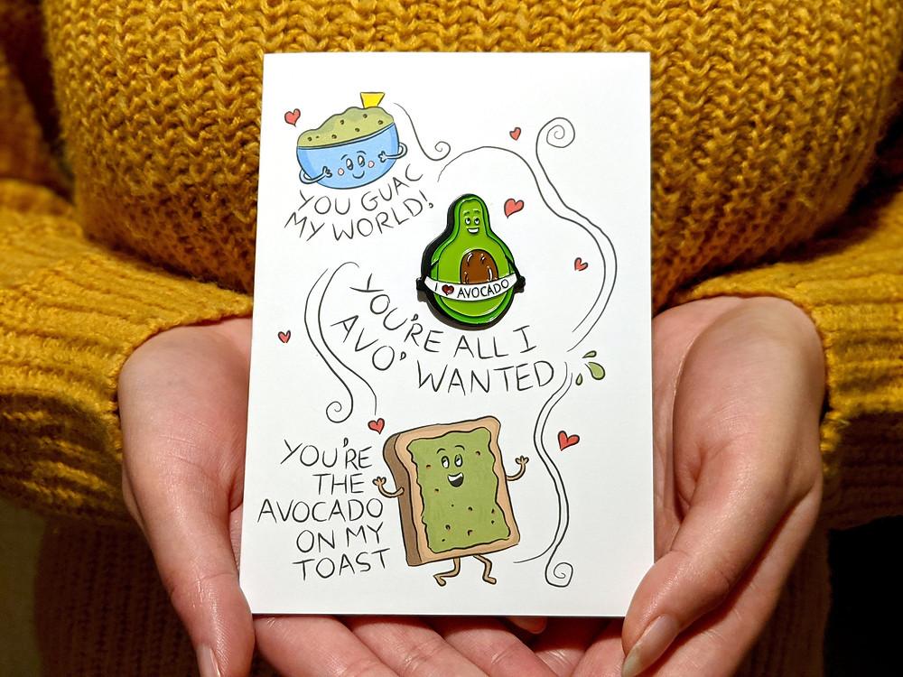 avocado love greeting card