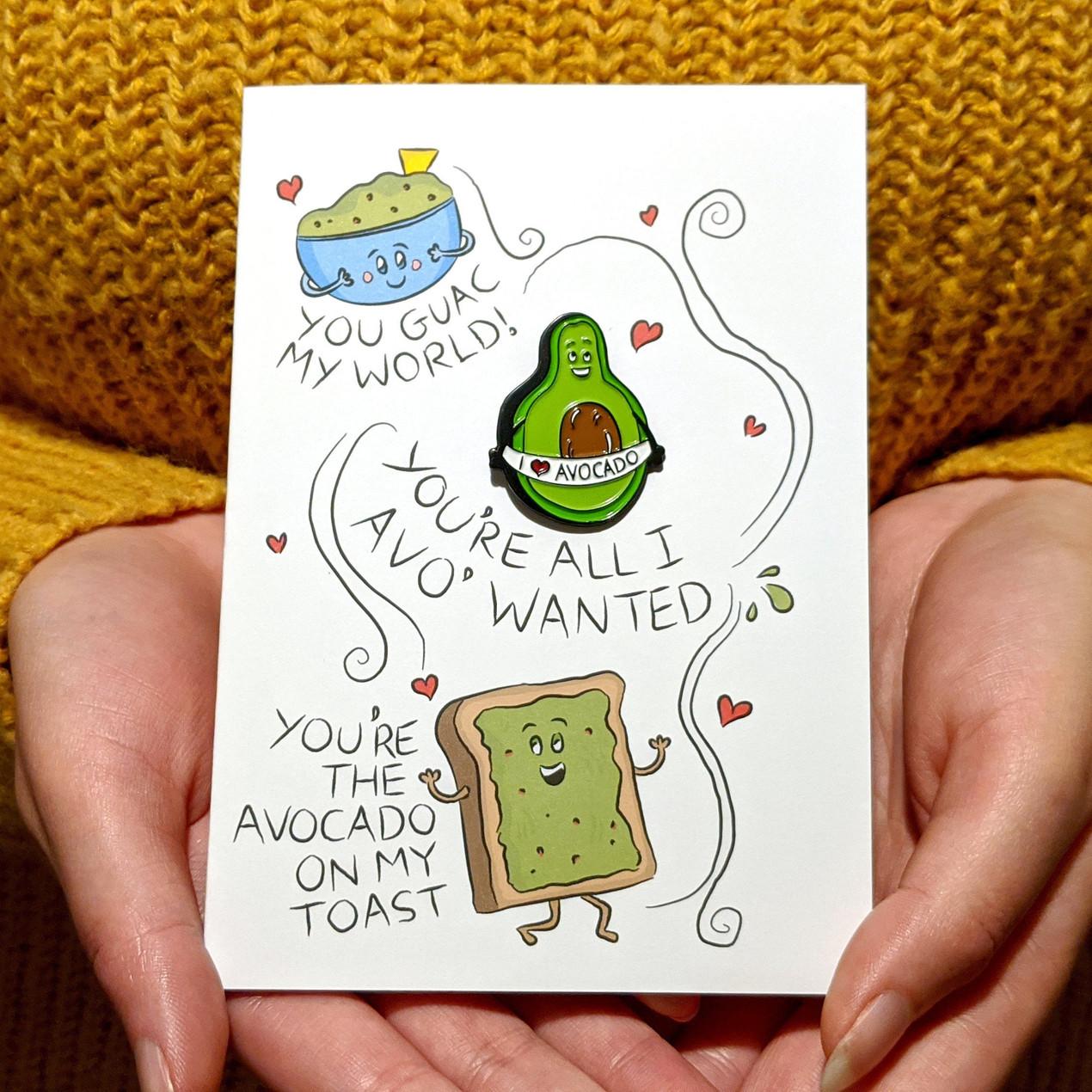 cute avocado card