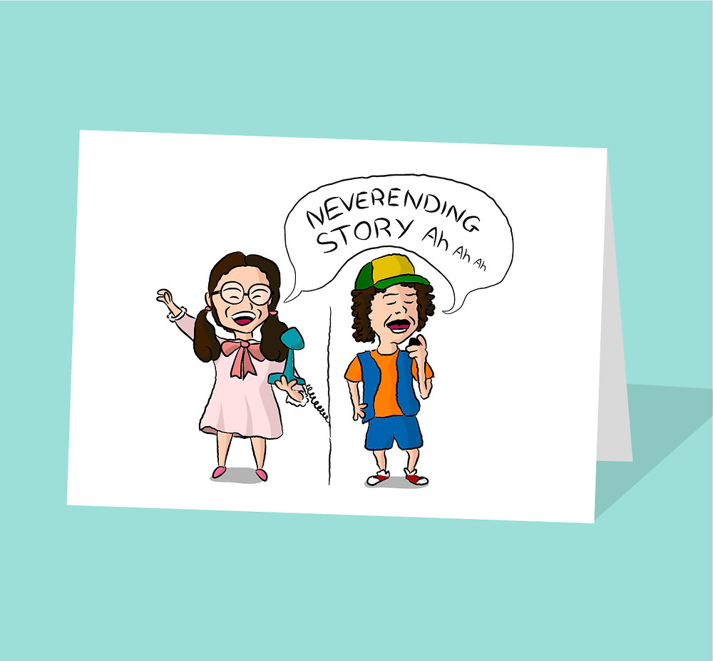 Stranger Things Dustin & Suzie Card