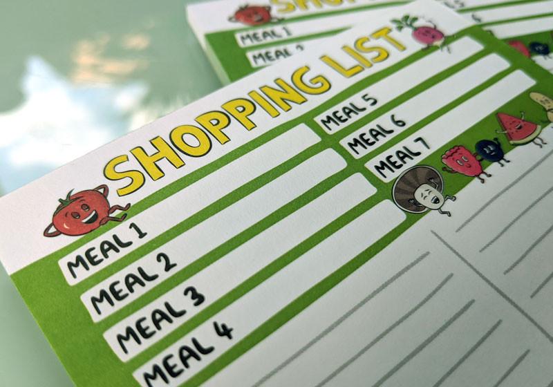 vegan shopping pad