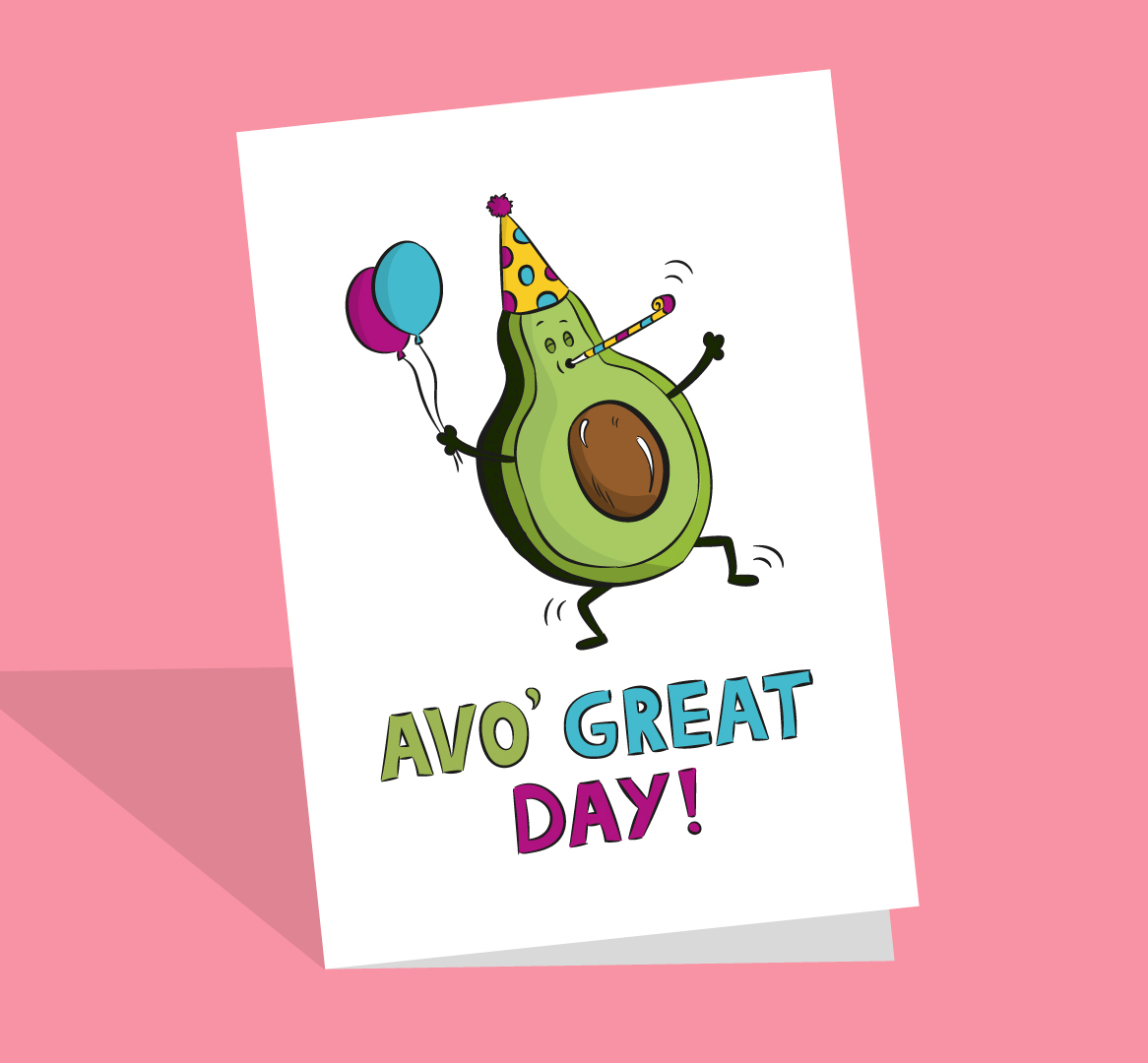 funny avocado card