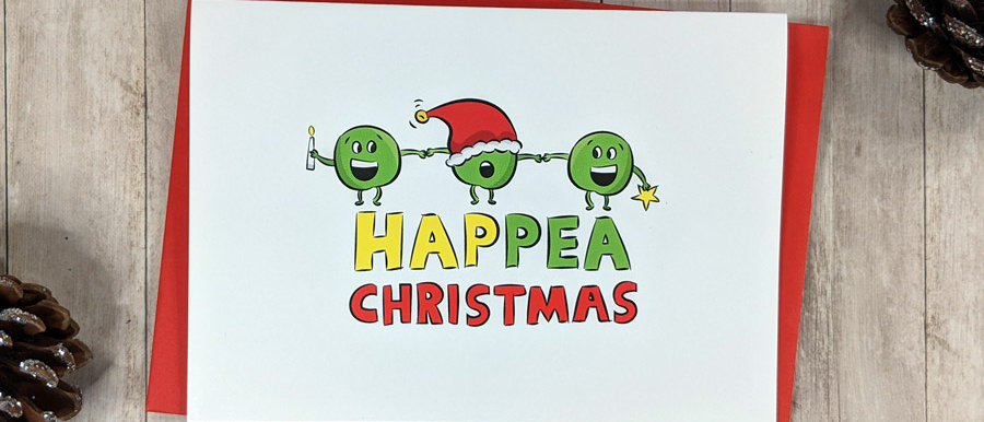 funny happy christmas card