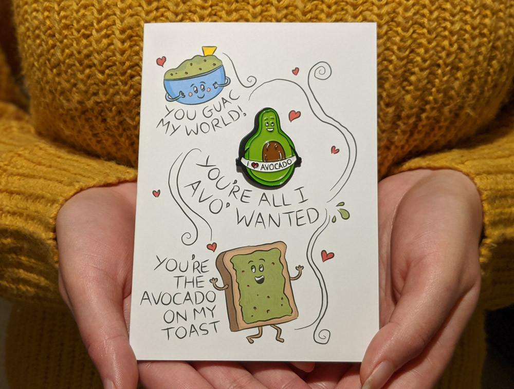 Avocado Valentines Day Card
