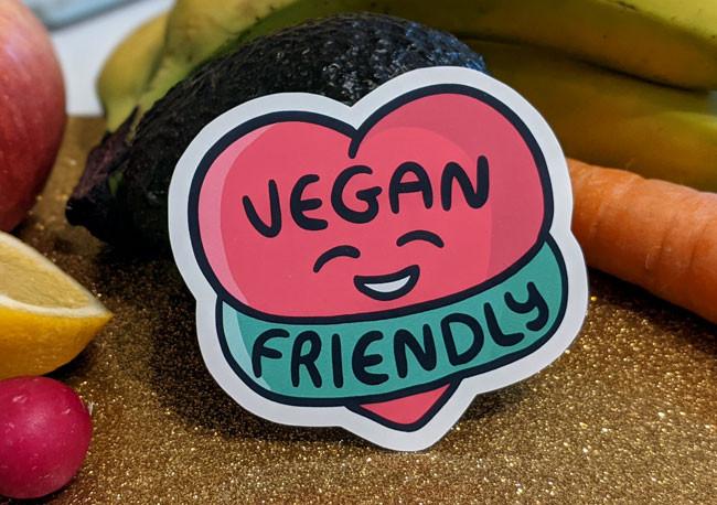 funny vegan stickers