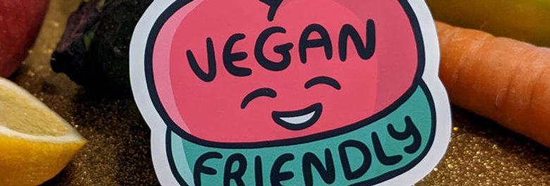 vegan friendly sticker