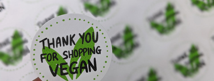 thank you for shopping vegan stickers