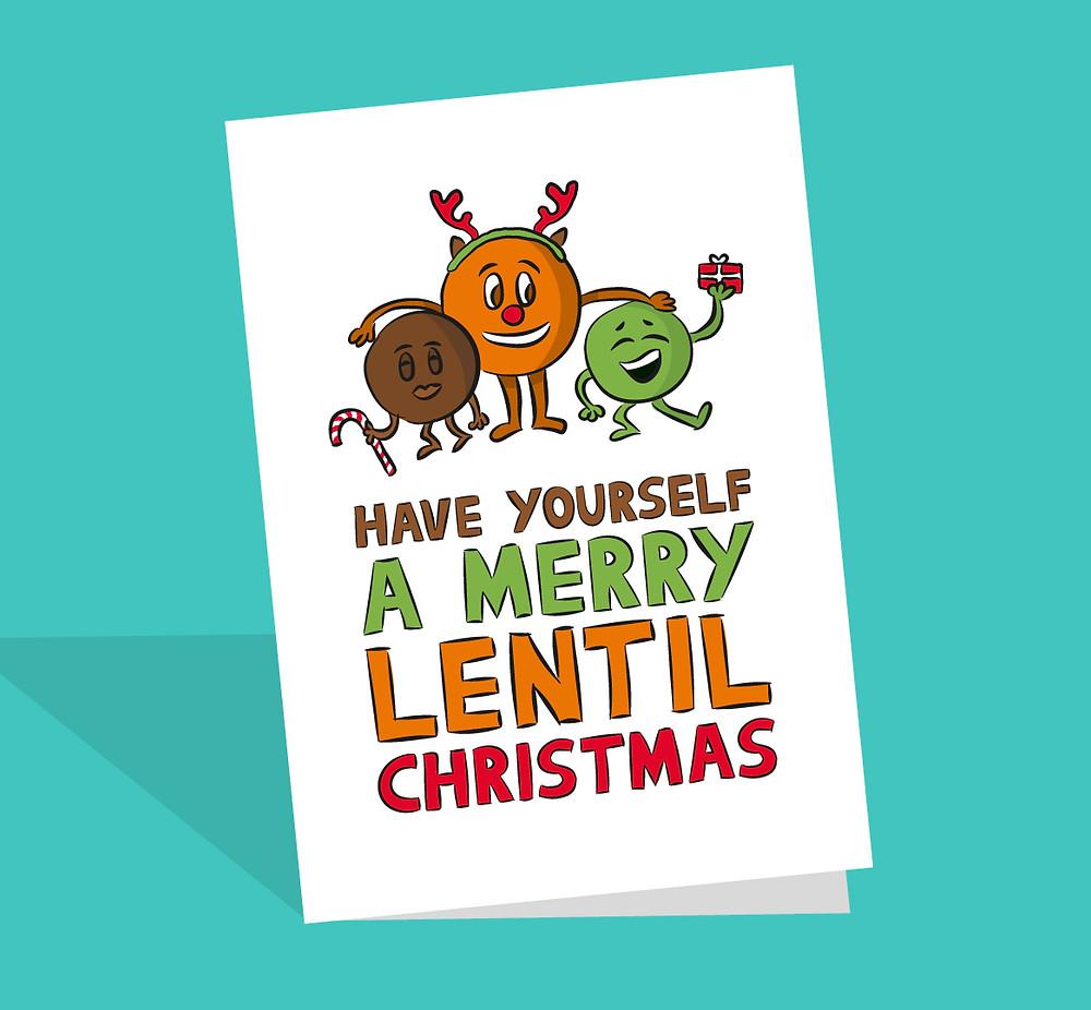 Lentil christmas card