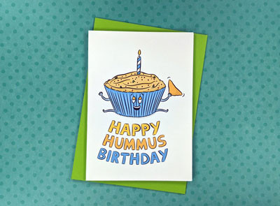 hummus birthday card