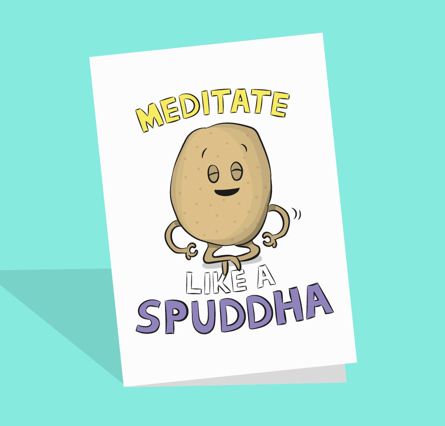 funny buddha card