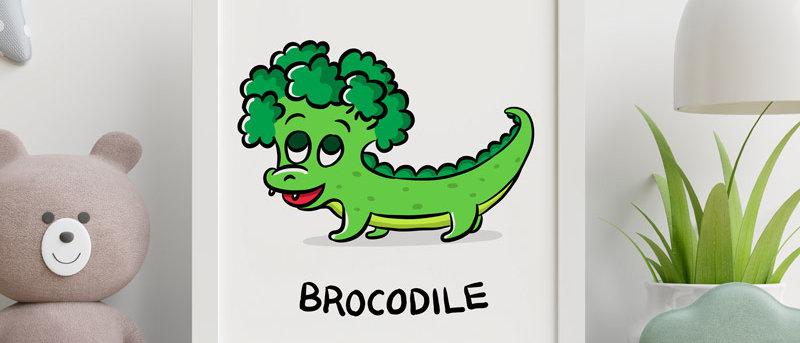 Cute Broccoli Print