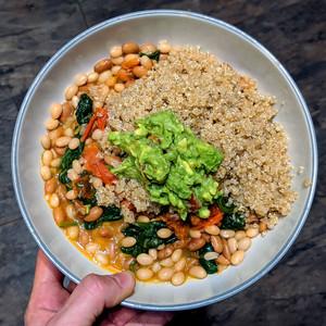 Vegan Spinach & Bean Bowl