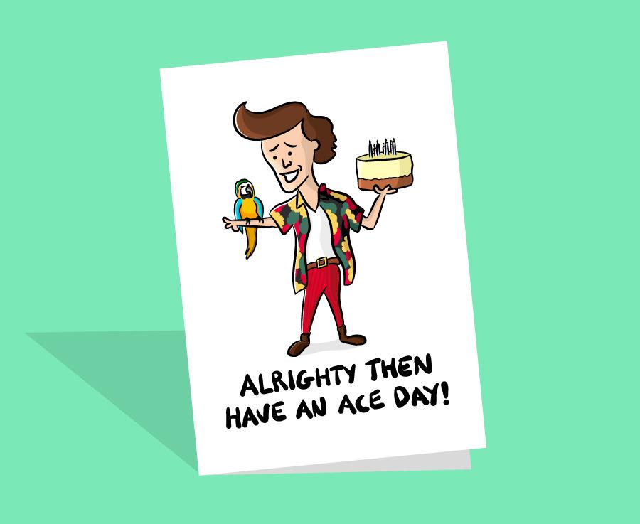Ace Ventura Birthday Card