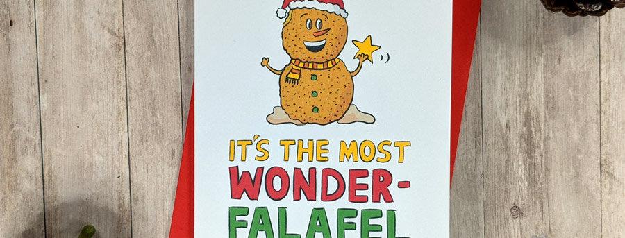 Falafel Christmas Card
