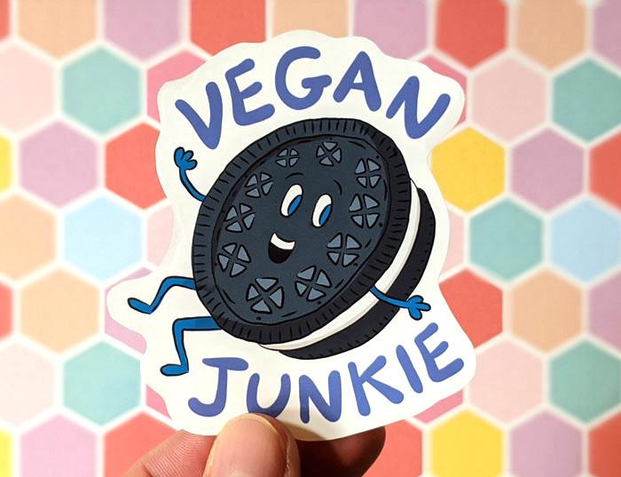 vegan junkfood sticker