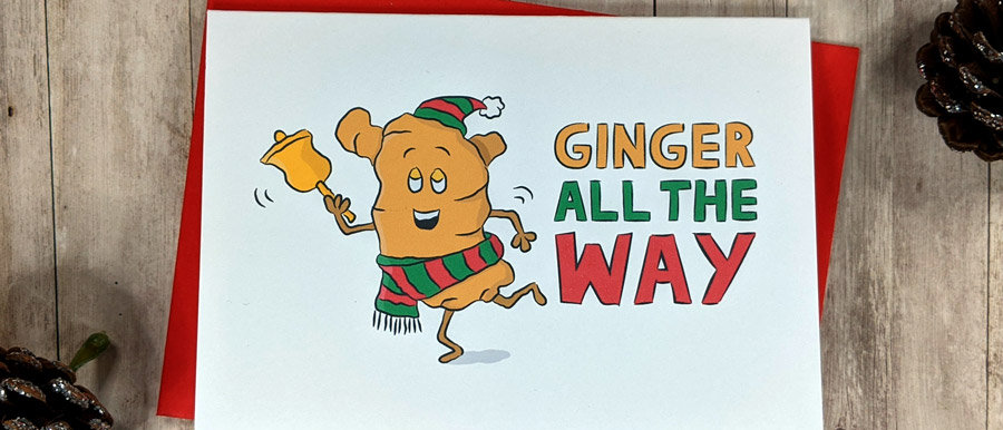 Ginger Christmas Card