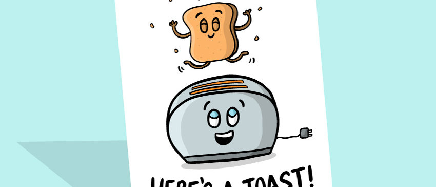 here's a toast card