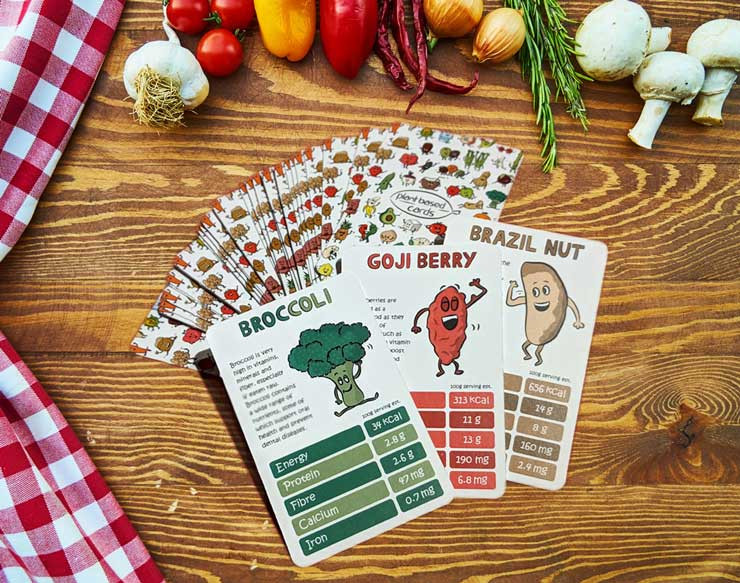 vegan top trumps by plant based cards