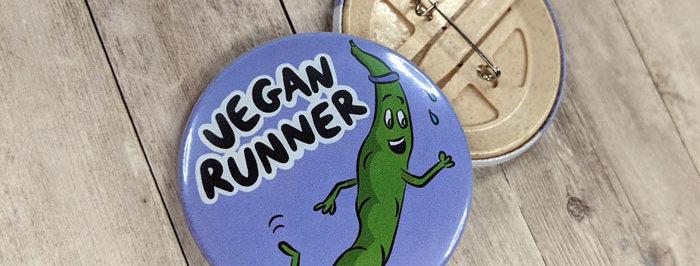 vegan runner badge
