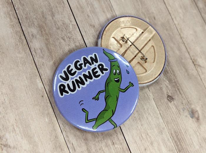 vegan running badge