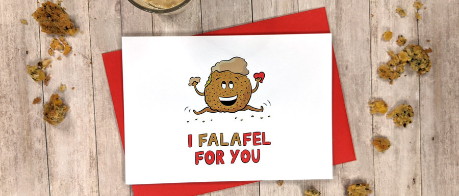 love falafel card