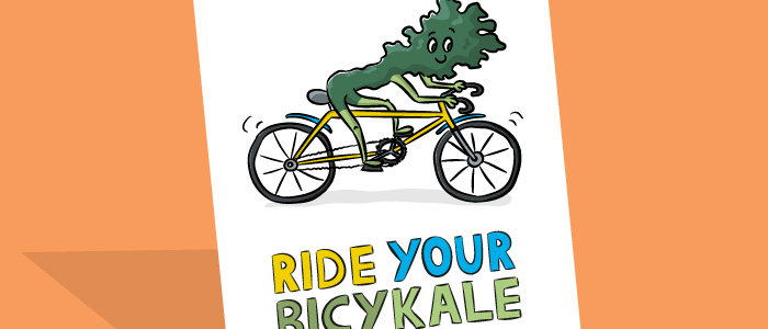bicycle pun card
