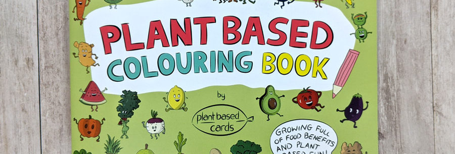 plant based colouring book