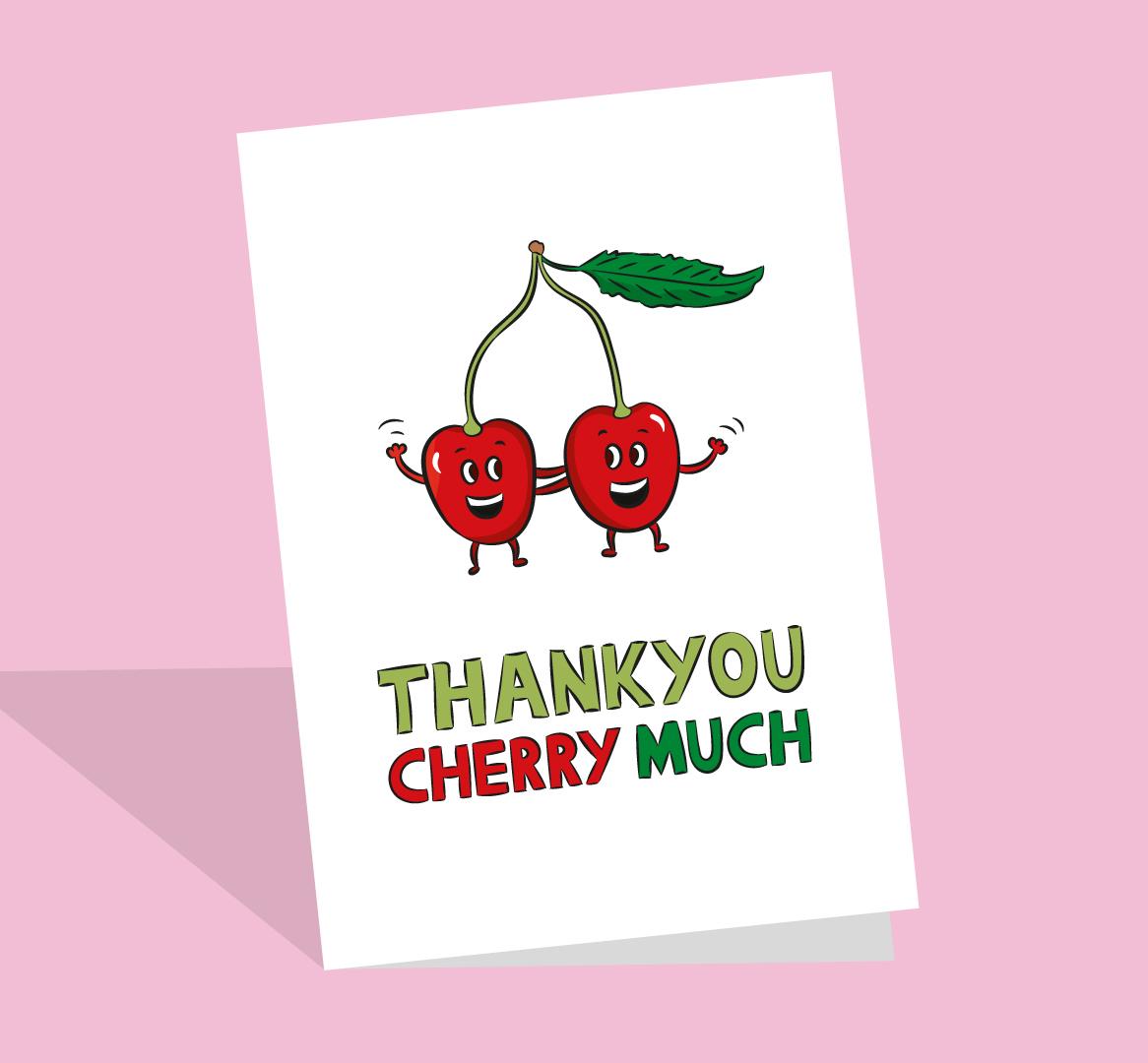 food pun thank you card