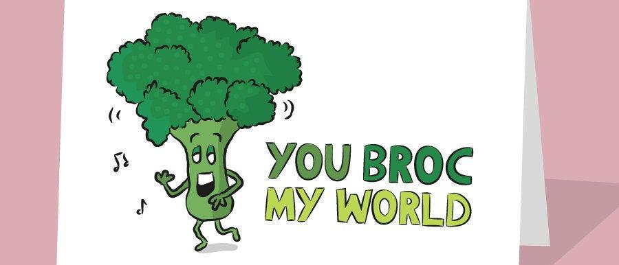 funny broccoli card