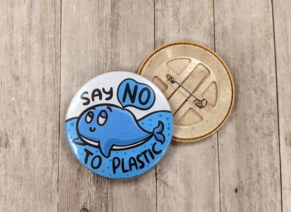 plastic free button badges