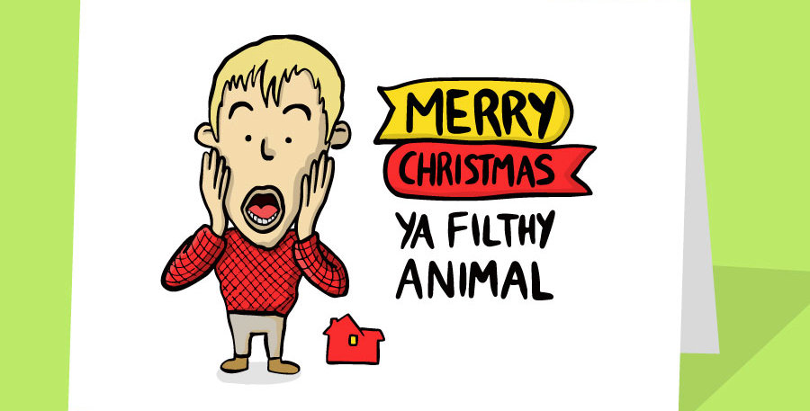 home alone christmas card