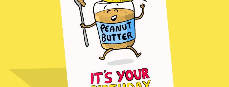 Peanut butter birthday card
