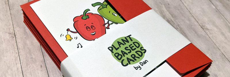 vegan christmas card packs