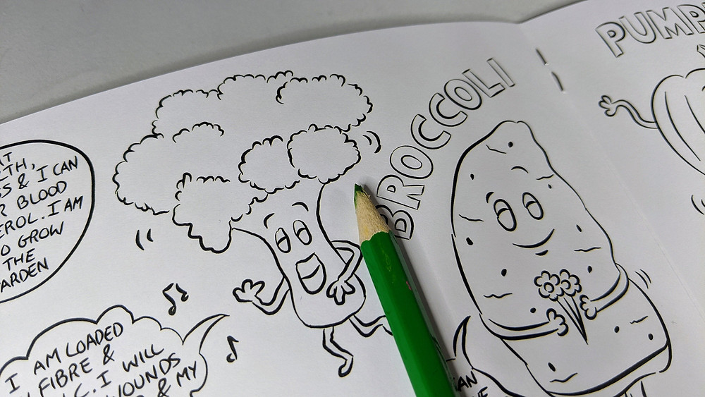 vegetable colouring book