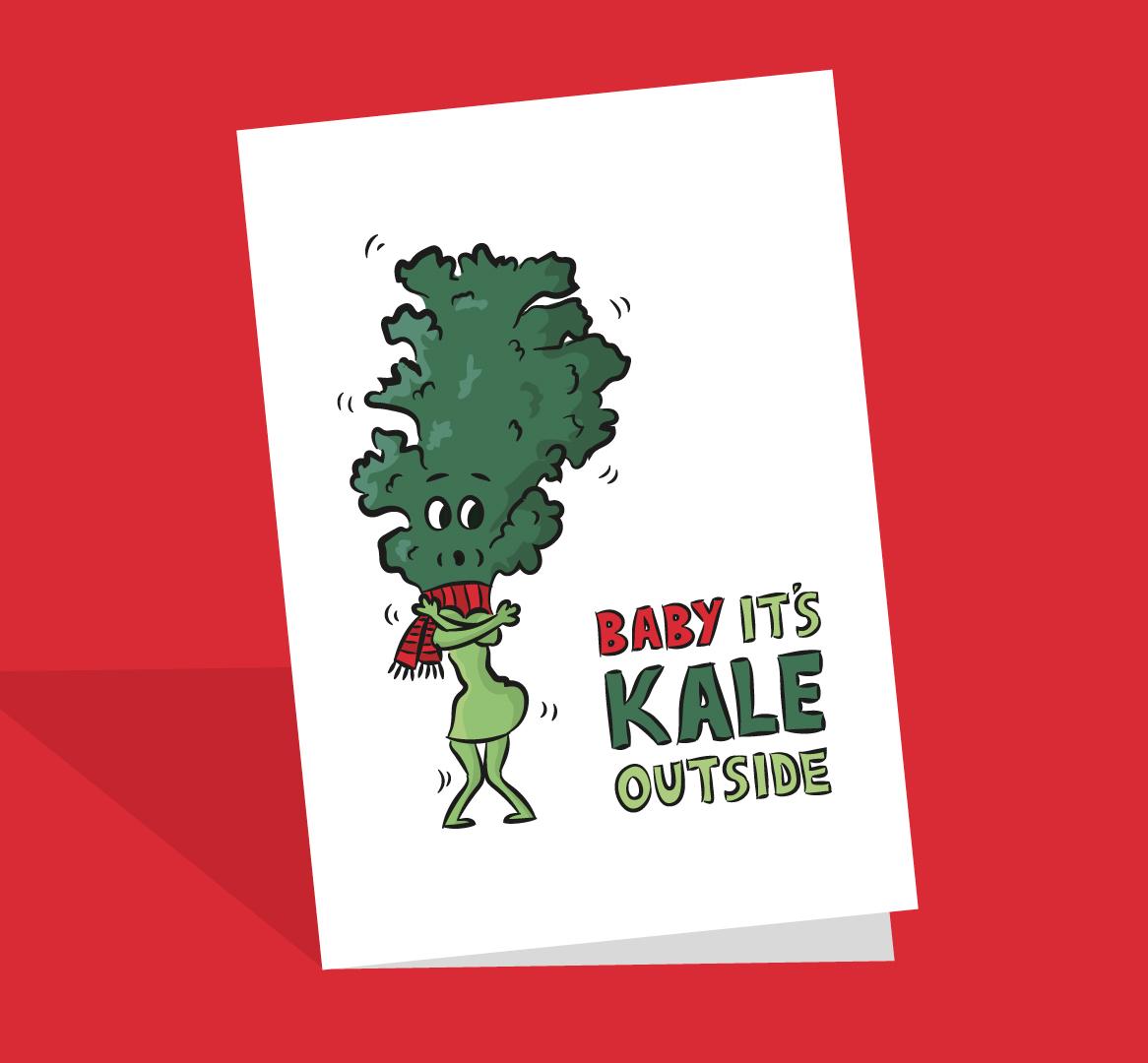 Kale pun card