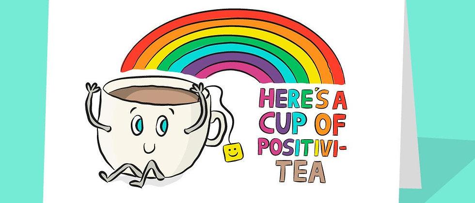 Positive Tea Greeting Card