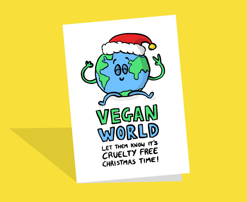 funny vegan christmas card