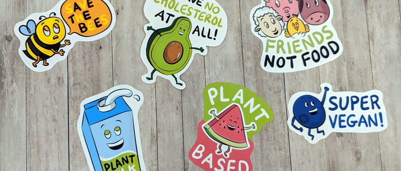 vegan sticker collection