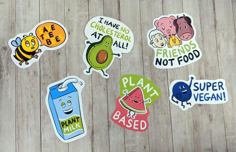 cute vegan stickers