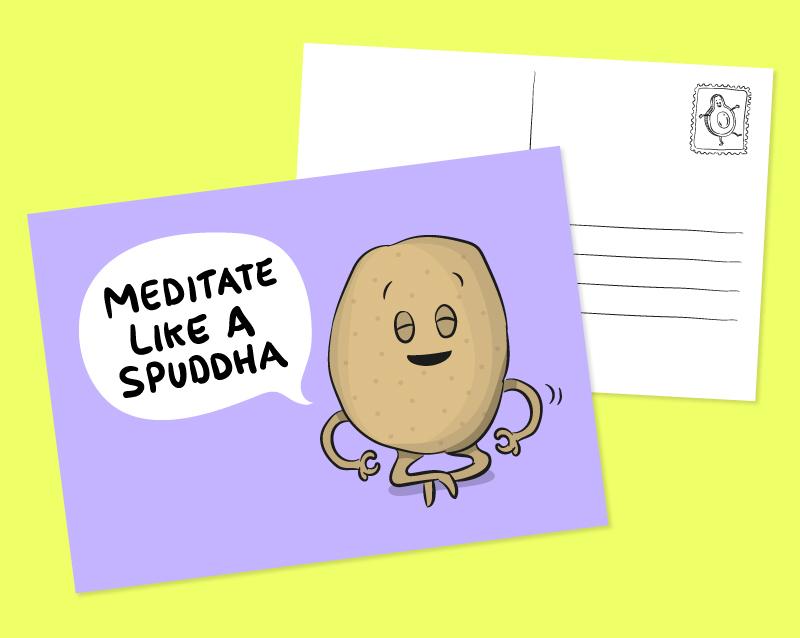 funny potato postcard