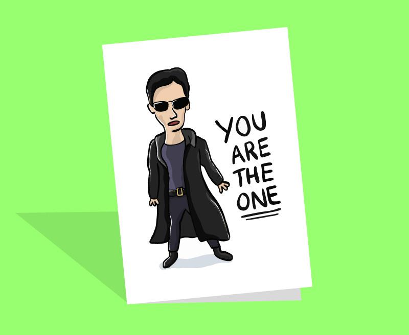 the matrix birthday card