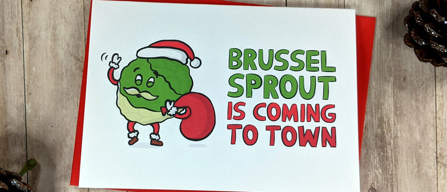 brussel sprout christmas card