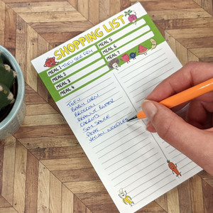 Shopping list pad perfect for vegans