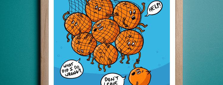 Overfishing Art   Vegan Art Satire