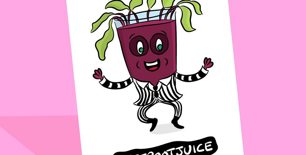 Beetlejuice Birthday Card - Beetroot Juice